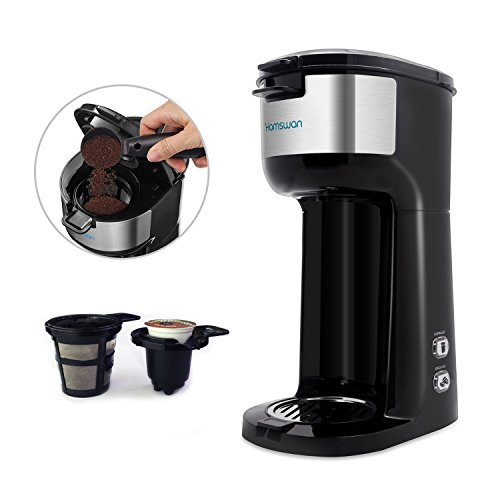 Hamswan Cm 1177b Coffee Maker Ground Coffee And Coffee Capsules 2 In