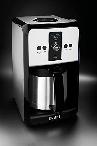 Krups Savoy Turbo 12 Cup Stainless Steel Coffee Maker Et451 With Thermal Carafe